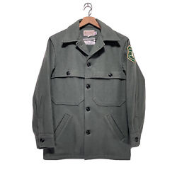 Rare Vintage Usfs Us Forest Service Wool Jacket 38 Made In Usa Mint Nwot