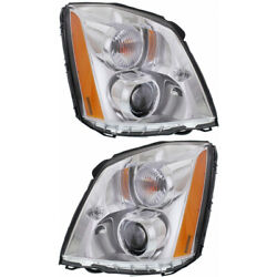 Fits Cadillac Dts Headlight 2006 07 08 09 10 2011 Pair Lh And Rh Side Side Hid