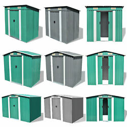 Garden Storage Shed Metal Pent Tool Equipment House Galvanized Steel Cabinet Box