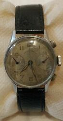 Stunning Vintage Rare West End Watch Co Chronograph Hand Winding Wrist Watch