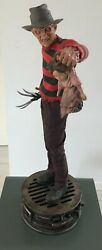 Freddy Krueger Premium Format Figure Sideshow Collectibles Pre-owned And Very Rare