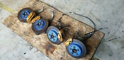 Jdm 03-08 Nissan 350z Front And Rear Brembo Brake Calipers Rotors Hubs Knuckles
