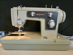 Heavy Duty Vtg Sears Kenmore Model 1303 Sewing Machine W/ Carry Case And Manual