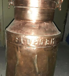 Antique Solid Brass Milk Can Great Condition Locking Lid