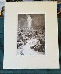 1899 Original Vintage Lithography Alphonse Mucha - The Pater - Black And White