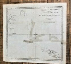 Chart Of Discoveries Made In The South Atlantic Ocean Under Captain Cook - 1775