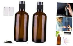 Amber Glass Spray Bottles For Essential Oils, 4oz Empty 4 Ounce X 2 Black Amber