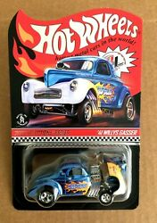 2020 Hot Wheels Rlc Selections And03941 Willys Gasser Wild Blue In Hand