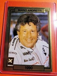Mario Andretti 1990 Action Packed Prototype Test Card 🏁🏎 Never Sold Very Rare