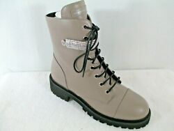 Giuseppe Zanotti Womenand039s Size 9 Combat Crystal City Boots In Beige Leather
