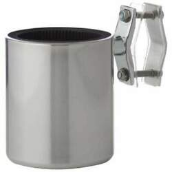 Diamond Plate Universal Stainless Steel Motorcycle Cup Holder Free Shipping