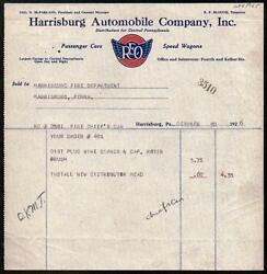 1926 Harrisburg Pa - Reo Speed Wagons - Automobile Co Letter Head Vintage Rare