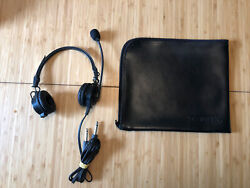 Telex Airman 850 Headset Anr Pilot Ga Dual Plug With Case 301317-000 See Picture