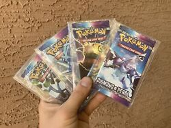 Pokemon Diamond And Pearl Sealed Booster Pack Art Set Unweighed Tamper Sealed