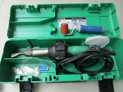 Leister Triac St 141.228 Plastic Welder With Nozzle Works Great, Looks Great