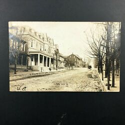 Rppc Womelsdorf, Pa. Postcard 1908 East High St. House Horse Buggy Real Photo