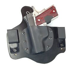 Left Hand Draw Iwb Holster Kydex And Leather Conceal Carry Mto