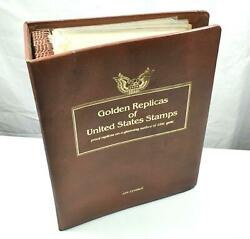Set Of Collectors Us Postage Stamp Commemorative Stamps In Gold 1983-1984