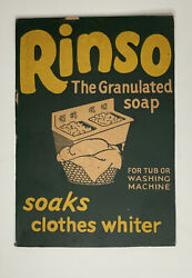 Rinso The Granulated Soap - Cardboard Box Cutout - Sign - 1940s - Vintage Advert