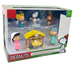 New Peanuts Christmas Nativity Figures Deluxe Set - 6 Pieces