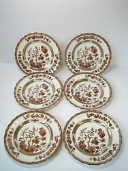 Vintage Copeland Spode India Tree Set Of 6 Bread And Butter Plates