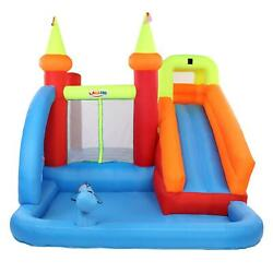 Lalaho Kids Gift Inflatable Water Slide Park Bounce House Castle With 480 Blower
