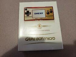 Nintendo Game Boy Micro Special 20th Anniversary Edition Red And Gold Sealed