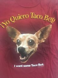 1998 Yo Quiero Taco Bell Chihuahua Dog Want Some T Shirt Men Size M Vintage Og