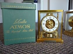 Outstanding 1960 Jaeger Lecoultre Atmos Clock Well Preserved W/ Original Box