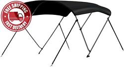 Leader Accessories 10 Colors 3 Bow Bimini Top Boat Cover 4 Straps For Front And