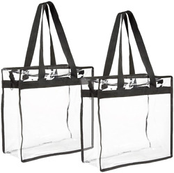 2 Pack Stadium Approved Clear Tote Bags $13.99