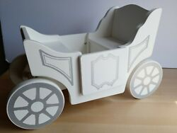 Pottery Barn Kids Royal Doll Carriage Wagon Pull Stroller Large Toy Wood Car