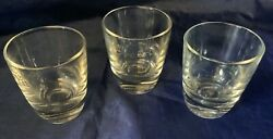 Ruhrglas German Set of 3 measured glasses 2 cl weighted base Clear Glass