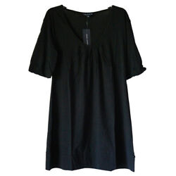 French Connection Bell Sleeve 100 Cotton Shift Mini Sneaker Dress Black