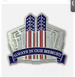 Twin Towers Nyc 9-11 Always In Our Memories Hat Or Lapel Pin Pms657 F3d31r