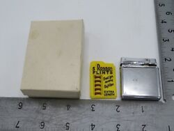 Vintage Fisher Double Case Lighter Japan With Ronson Extra Flints Y9