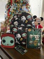 Funko Nightmare Before Christmas Nbc Mini Backpack Bag With Coin Purse And Pins