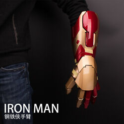 Iron Man 11 Armor Wearable Arm Mk42 Led Gloves Cosplay Model Toy Gift Stock