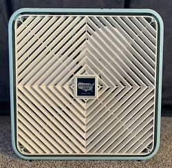 Vintage Country Aire Coast To Coast Metal Box Fan Plastic Front Metal Blades