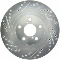 Stoptech For Acura Rlx 2014-2020 Brake Rotor Drilled And Slotted Front - Right