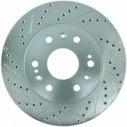 Stoptech For Acura Rlx 2014-2020 Brake Rotor Drilled And Slotted Front - Left