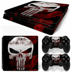 Ps4 Slim Console Skin Decals The Punisher Skull Vinyl Skin Decal Stickers Covers