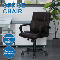 Fabric Cushioned Computer Pc Desk Office 360 Swivel Chair Chrome Legs Adjustable