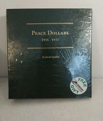Album For Us Peace Dollars Coins 1921 - 1935 Littleton - New Free Shipping