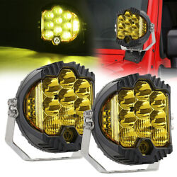 2pc 5inch 50w Led Work Light Pods Spot Flood Combo Driving Fog Lamp Ford Offroad