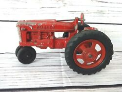Vintage Hubley Kiddie Toy Cast Spring Loaded Seat Farm Tractor Free Ship