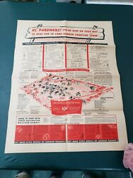 1948 Lone Ranger Frontier Town Complete Unpuched With Cereal Box Backs And Maps