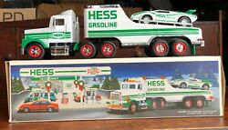 1991 Hess Toy Truckand Racer With Working Lights No Batteries Used For Display