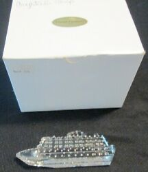 Crystal Fantasies Usa Glass Cruise Ship Sculpture Figure 5 Clear With Box