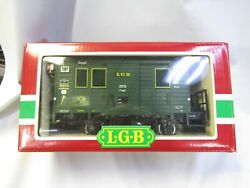 Lgb 3019 Post Office Car Made In Germany Pre Owned G Scale Lights Metal Wheels